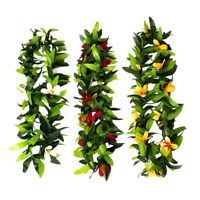 3Pcs Hawaiian Leaf Leis Flowers Necklace Headbands Tropical Luau Party Supplies