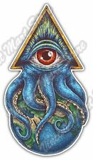 "World Government Illuminati Masonic Eye Car Bumper Vinyl Sticker Decal 3""X6"""