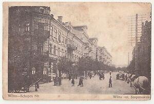 Ak Wilno Schopen Straße Vilnius Litauen 1915 IWW !