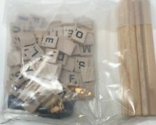 Scrabble Replacement Tiles Holders & Bag New Complete