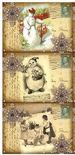 SET OF 9 CHRISTMAS SNOWMAN (22) SCRAPBOOK CARD EMBELLISHMNETS HANG/GIFT TAGS