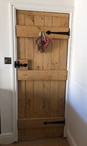 SOLID LEDGED DOORS ~ RUSTIC ~  COTTAGE BARN DOORS - 30mm Thick MADE TO MEASURE