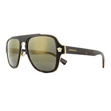 dd4c1e3f7150 Versace Sunglasses VE2199 12524T Dark Havana Dark Grey Mirror Gold