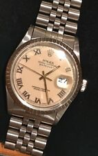 Rolex Datejust Men's Stainless Steel Quick-Set Men's 36mm 16030 Special Dial