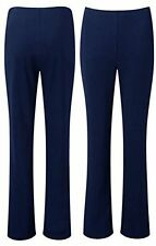 New Ladies Women Soft Stretch Pull On Bootleg Trousers Plus Size 10-24