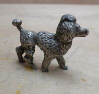 Poodle Dog Small Pewter Figure Animal Ornament Small Free UK P+P