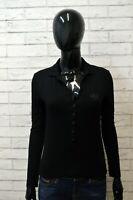 GUESS MARCIANO Polo Donna Taglia S Maglia Maglietta Camicia Shirt Woman Nero