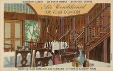 Old Postcard - Private Dining Room - Mandarin Garden North Wyman ST. Rockford IL