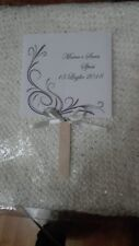 ventaglio in carta  matrimonio sposa personalizzato scritta cerimonia