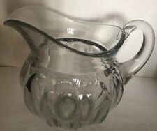 Vintage Heisey COLONIAL- Squat Pitcher- 2 quart- 8 in high- Signed