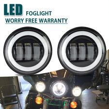 60W 4.5 Inch Round LED Spot Fog Passing Lights Lamp For Harley Davidson Motor 2X