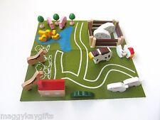 Wooden Farm Animals in a Tin - Travel Game - Storage Box -  Boys Gift - Children