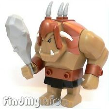 N821  Lego Fantasy Era Dark Tan Large Troll Figure with Club 7036 - RARE - NEW