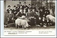 """HAMBURG ALTONA """"Zur Einkehr"""" Isebekstrasse Personen Schweine Gasthaus Reprint-AK"""
