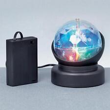LED DI NATALE BATTERIA 10cm GIREVOLE Crystal Ball VIDEOPROIETTORE