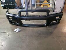 JDM Nissan R34 GTR BNR34 Front Bumper W/Hardware 62022-AA425 NEW OEM