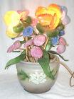 Vintage Roseville Gardenia Jardiniere with Slag Glass Art Light - OOAK - WORKS
