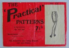 More details for vintage 1930s sewing pattern girls knickers drawers practical 8 to 10 years 30s