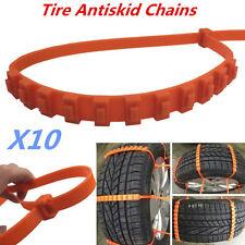 Universal 10pcs Car SUV Emergency Snow Anti-skid Wheel Tire Chains Fit 14-24''