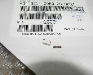 strip of 5 Kyocera 04-6214-0060-00-800 vertical  FPC connector 0.5mm pitch 6 way