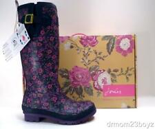 NIB New Joules Navy Pink Rubber Rain Boots Rainboots Ditsy Floral Wellies 10