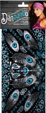 Danbando - Silver Peacock Paisley Headband/Headwrap with Stones