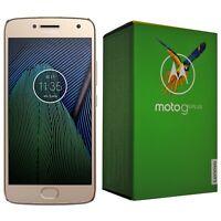 BNIB MOTOROLA MOTO G5 PLUS 32GB XT1684 FINE GOLD FACTORY UNLOCKED 4G/LTE SIMFREE