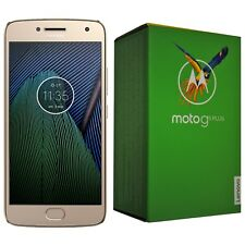 BNIB MOTOROLA MOTO G5 PLUS 32GB XT1684 FINE GOLD FACTORY UNLOCKED 4G/LTE SIMFREE