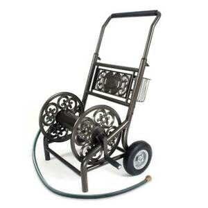 Liberty Garden 301 2 Wheel Outdoor Garden Water Hose Reel Storage Holder & Cart