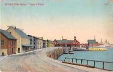 Rockland Maine Tillsons Wharf Antique Postcard J53297