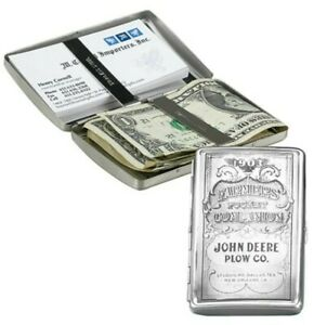 NEW John Deere Stainless Pocket Companion Card Money Document Holder LP10329