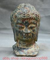 "7.2 ""Bronze Ware Tibet Bouddhisme Shakyamuni Amitabha Bouddha Tête Buste Statue"