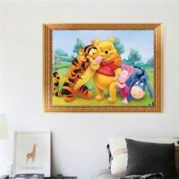 UK Winnie Piglet Tigger Full Drill Diamond Painting Embroidery Cross Stitch ST