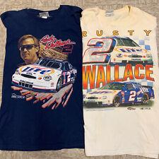 Rusty Wallace Size XXL T-Shirt Lot Distressed - NASCAR