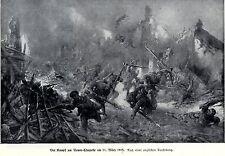 1915 Neuve-Chapelle: la battaglia il 11. marzo 1915. Engl. disegno * antique print