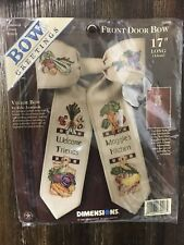 """Vtg Retired 1998 Dimensions 17"""" Bow Greetings Front Door Bow House Veggie 72496"""