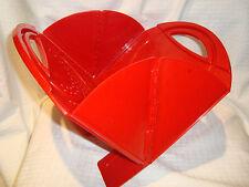 Lori Greiner Foldable/Space Saver Red Plastic Vegetable/Food Colander EUC