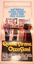 LOCANDINA  ORIGINALE DEL FILM QUELLE STRANE OCCASIONI  1976