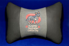 Embroidered car seat neck rest pillow - Australian Cattle Dog.