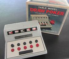 Vintage Table Model Draw Poker Game Cordless Battery Operated w/ orig box... i