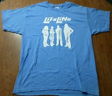 LIFELINE autograph tee XL Temperance Michigan rock band T shirt Breaking Grace