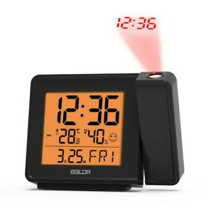 Projection Atomic Alarm Clock LCD Projector Display Wall Ceiling Time USB Types