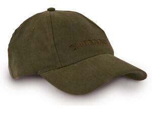 Shimano Basecap olive green Baumwolle besticktes LOGO Einheitsgröße Cap Grün NEW