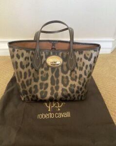 Roberto Cavalli Parfum Tiger Camo Graphics Pattern Tote Bag