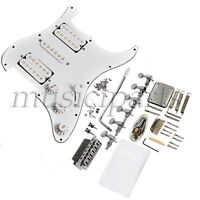 Complete Set Electric Guitar Bridge Loaded Pickguard Tremolo Knob For Fender ST