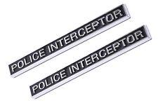 2x Police Interceptor Emblem 3D Badge auto Decal Sticker for Car Truck