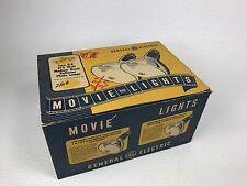 Vintage General Electric Reflector Photo Lamps Medium Beam Movie Bar Light 375W