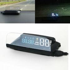 KMH KPM Car Truck HUD Head Up Display OBD2 Overspeed Warning System RPM Alarm