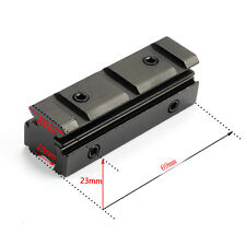 11mm Dovetail To 21mm Weaver Rail Converter Adapter Base Raiser Scope Mount Rail