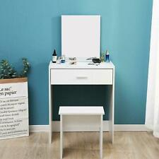 Vanity Dressing Table Makeup Desk w/ Mirror  White Bedroom NEW